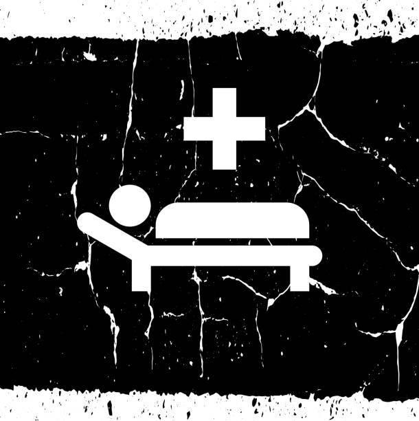 stockillustraties, clipart, cartoons en iconen met zieke mens met medisch pictogram van het kruis - tears corona