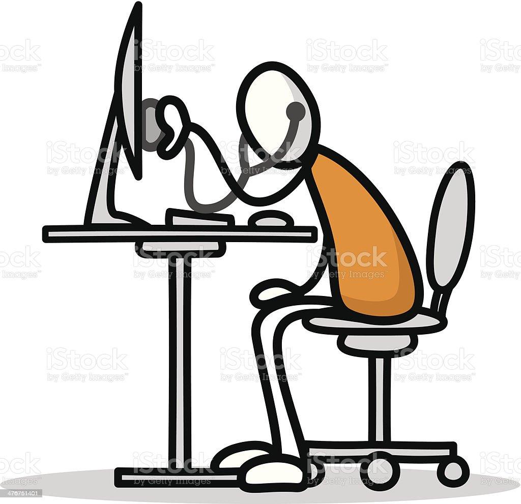 Sick my computer royalty-free sick my computer stock vector art & more images of antivirus software