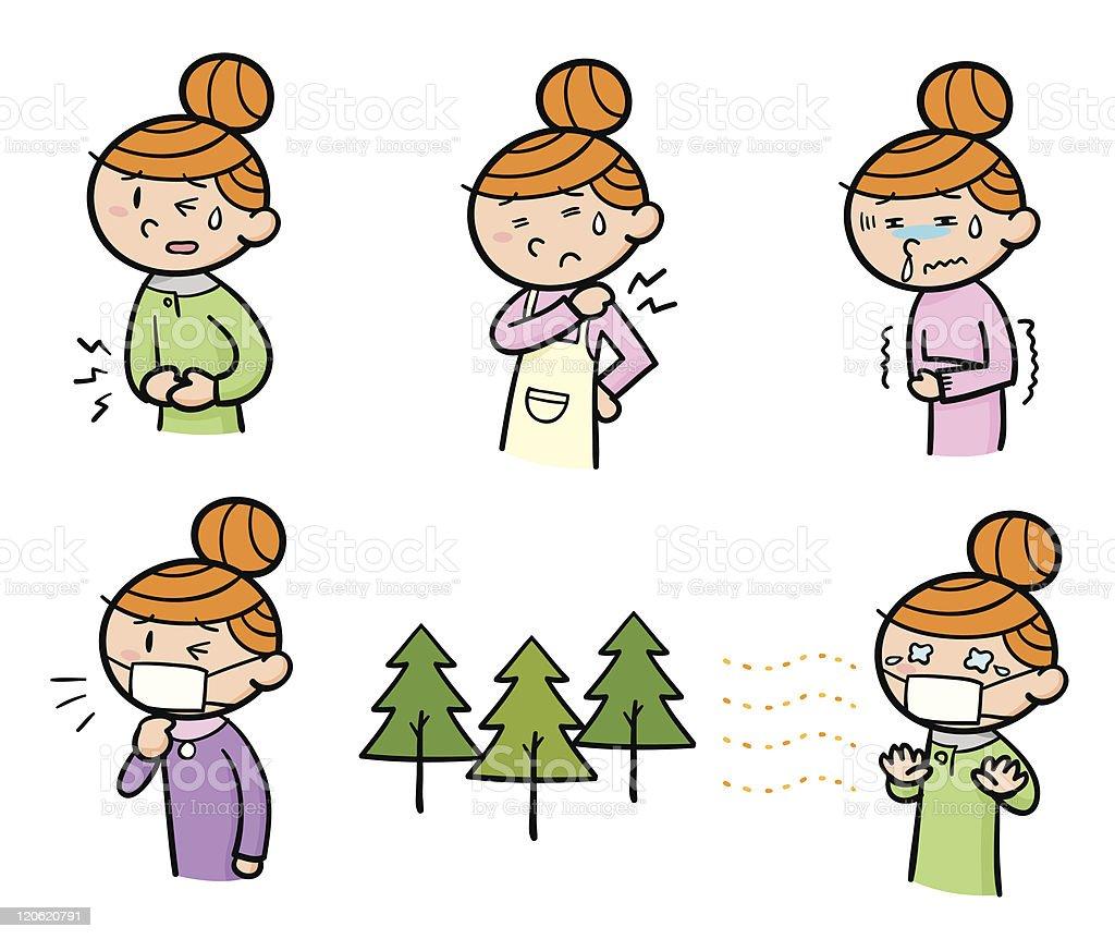Sickness vector art illustration