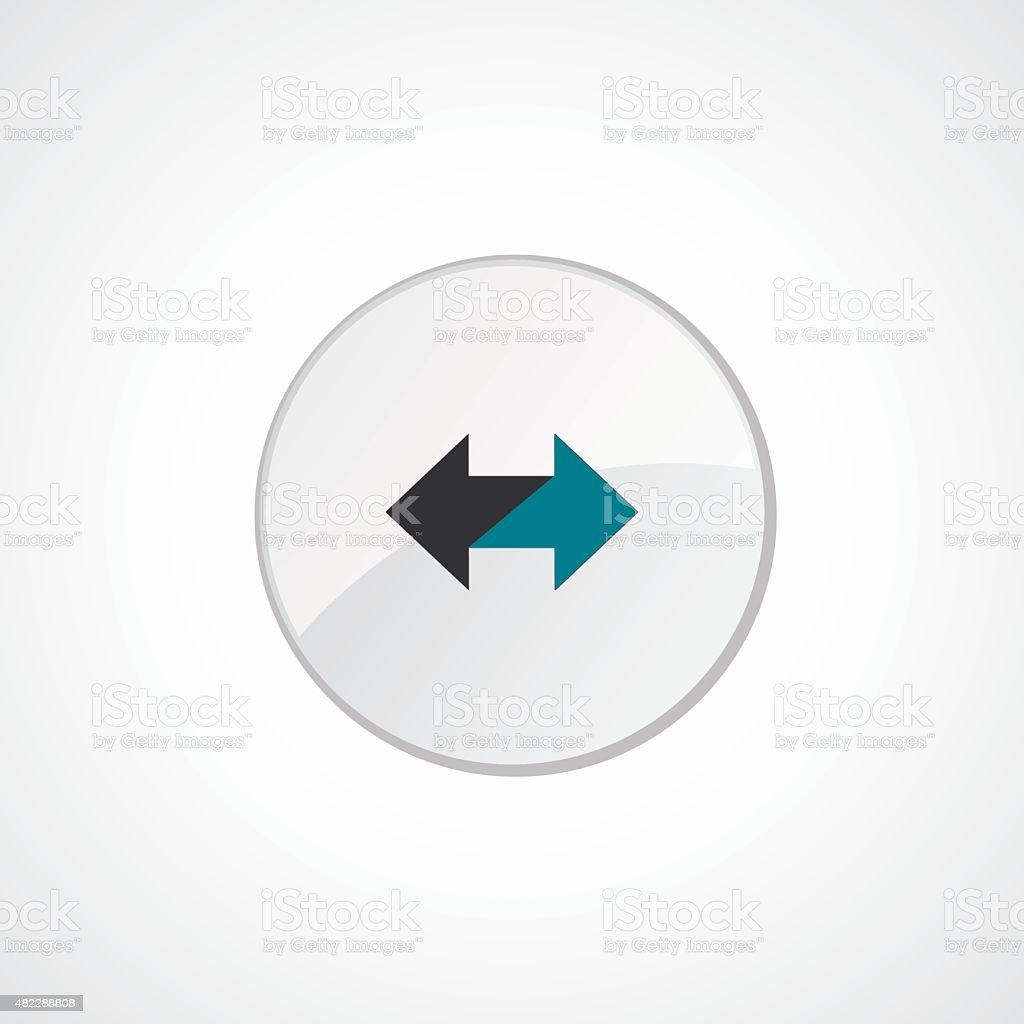 2 Side Arrow Icon 2 Colored Stock Vector Art 482288808 Istock