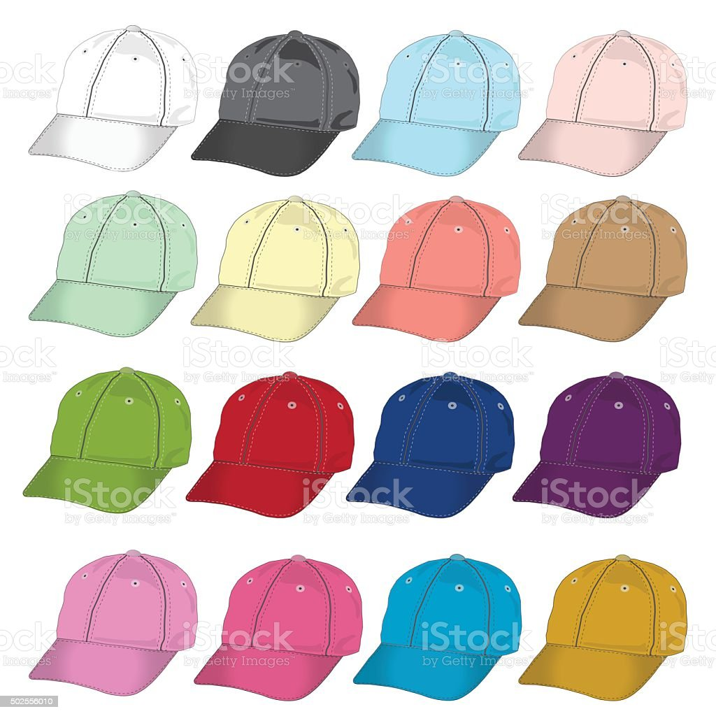 side baseball cap isolated vector template blank hat vector