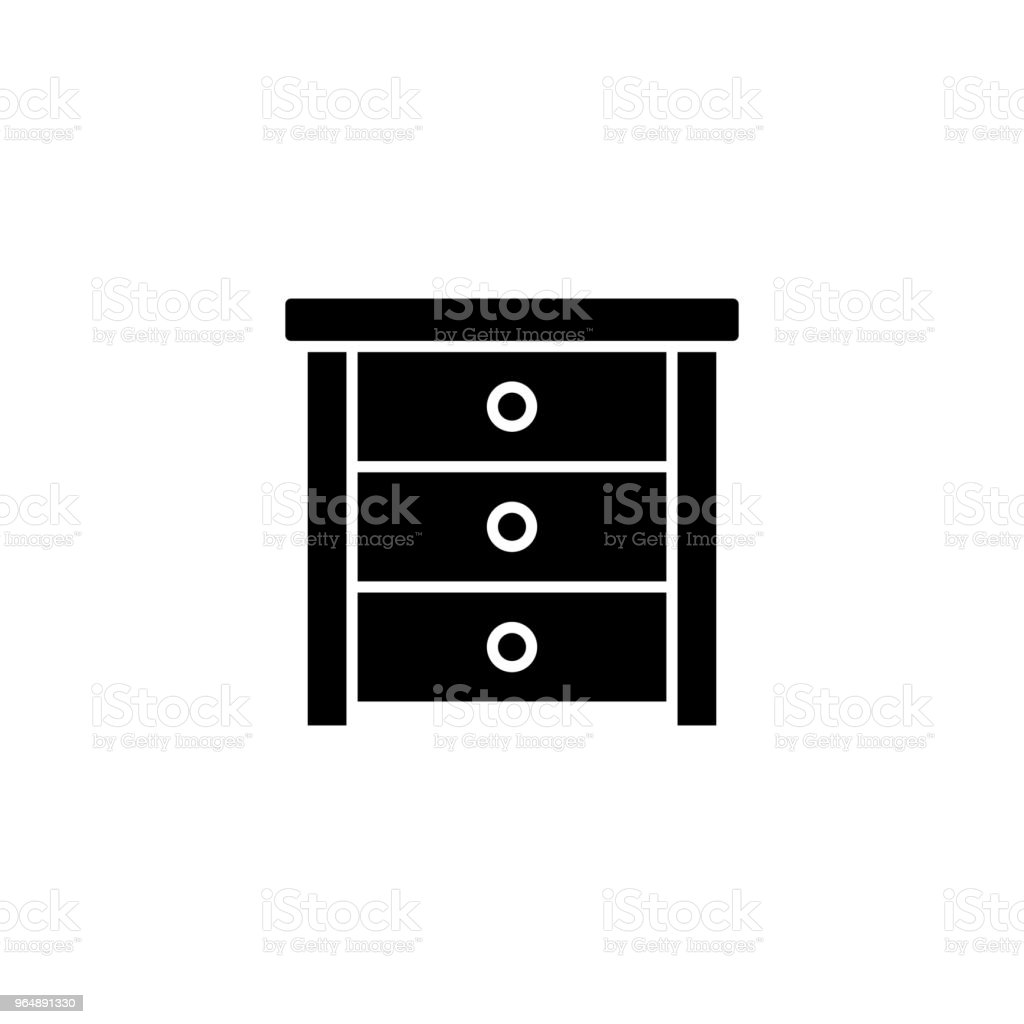 Side table black icon concept. Side table flat  vector symbol, sign, illustration. royalty-free side table black icon concept side table flat vector symbol sign illustration stock vector art & more images of no people