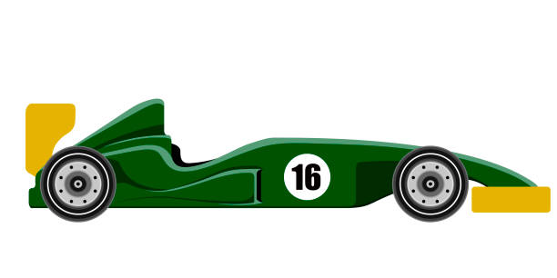 side view of a formula 1 racing car - formula 1 stock illustrations