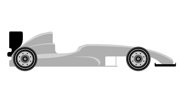Side View Of A Formula 1 Racing Car Stock Illustration ...