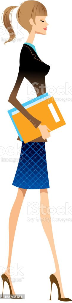 side view of woman royalty-free stock vector art