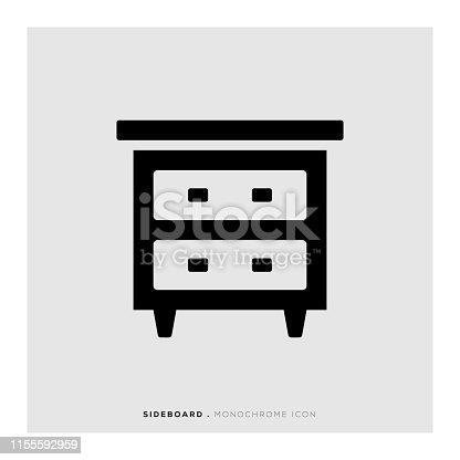 istock Sideboard Icon 1155592959