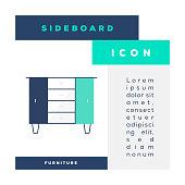 istock Sideboard Icon 1326037536