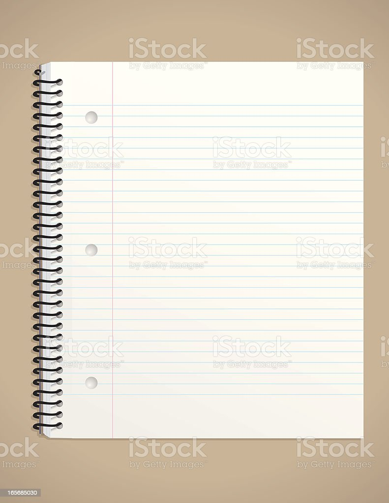 Side-Coiled Notepad vector art illustration