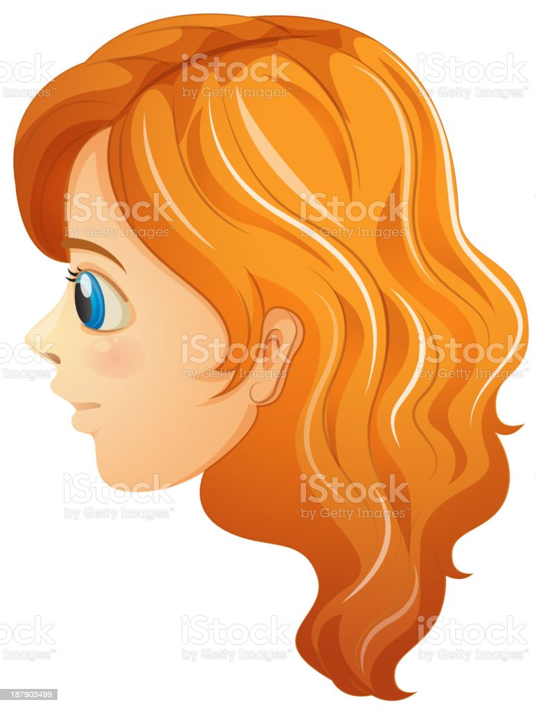 sideview of a girl's face
