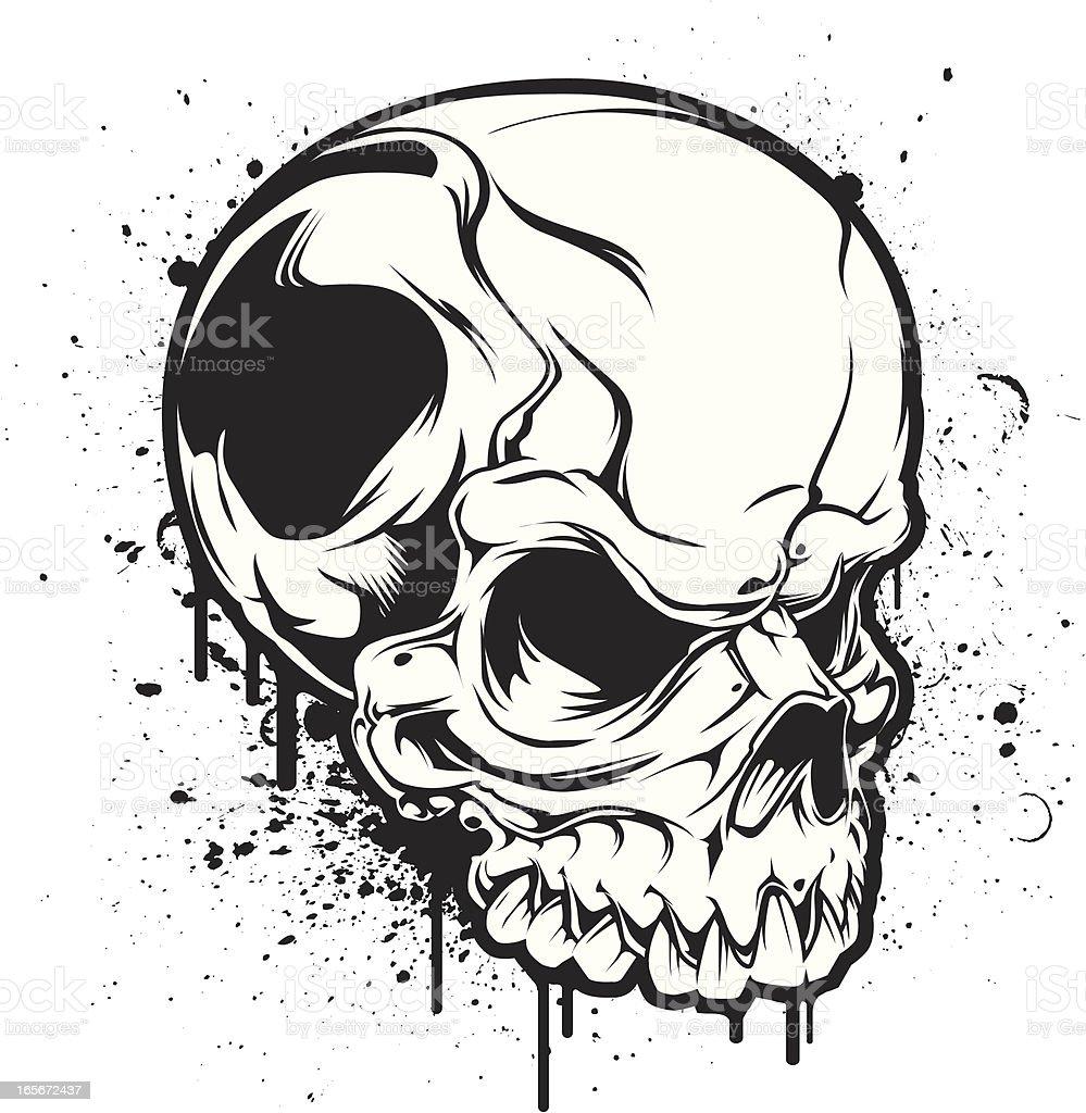 sideways skull splatter royalty-free stock vector art