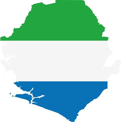 Sierra Leone flag map