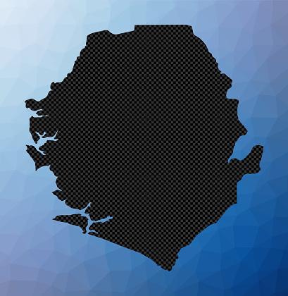 Sierra Leone geometric map.