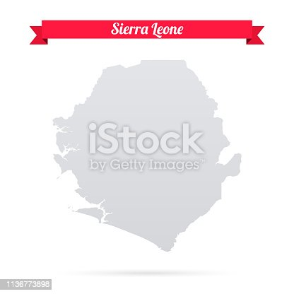 Map of Sierra Leone isolated on a blank background and with his name on a red ribbon. Vector Illustration (EPS10, well layered and grouped). Easy to edit, manipulate, resize or colorize. Please do not hesitate to contact me if you have any questions, or need to customise the illustration. http://www.istockphoto.com/portfolio/bgblue