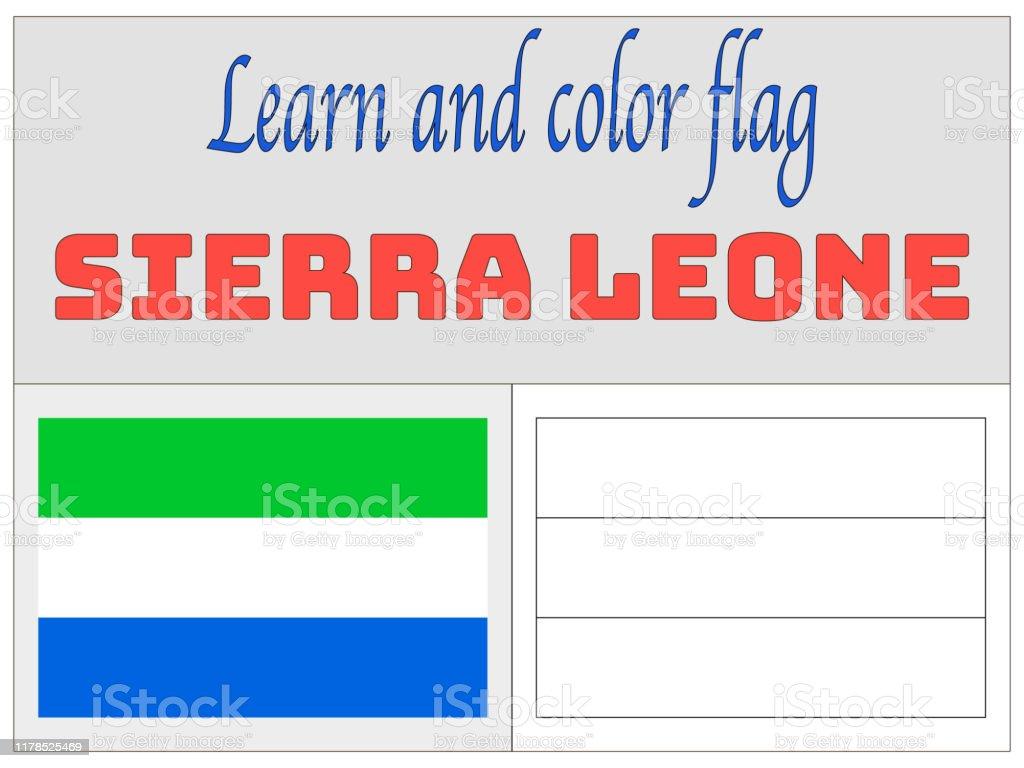 Sierra Leone National Drapeau Coloriage Book Pour Leducation Et Lapprentissage Couleurs Originales Et La Proportion Illustration Simple De Vecteur De Lensemble De Drapeau De Pays Vecteurs Libres De Droits Et Plus D Images