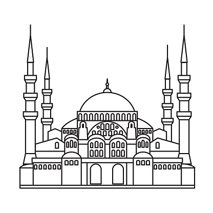 sights of Istanbul. Saint Sophie Cathedral. Blue Mosque