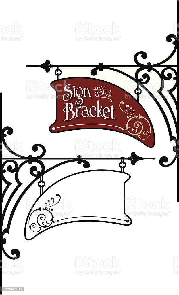 Sign And Bracket Design Stock Vector Art & More Images of ...