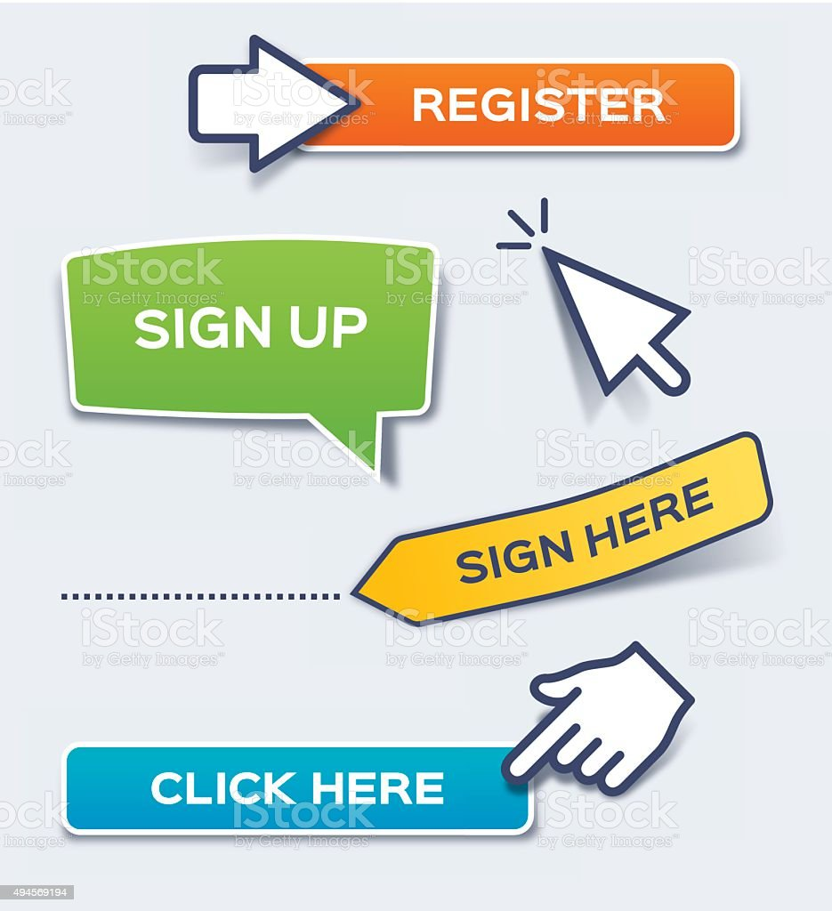 Sign and Click Here Action Buttons