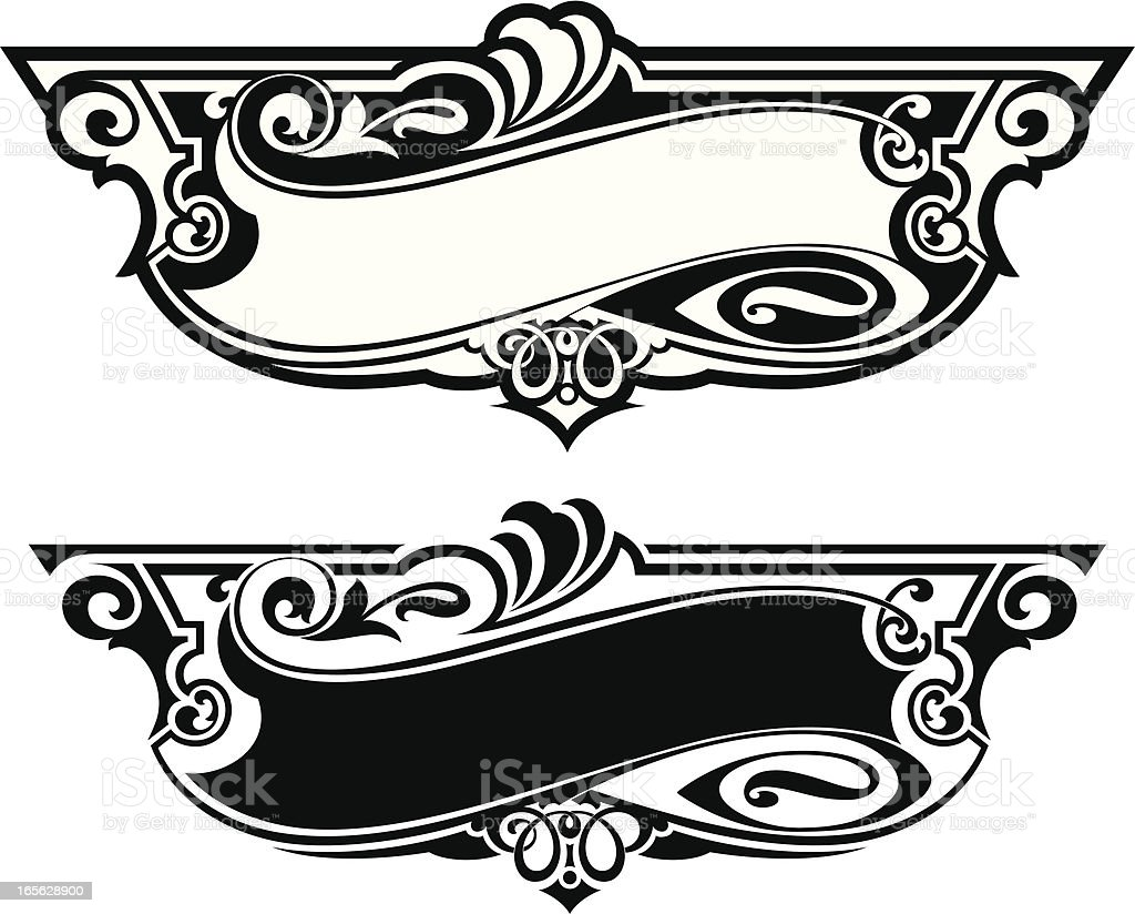 Sign Art Panel royalty-free stock vector art