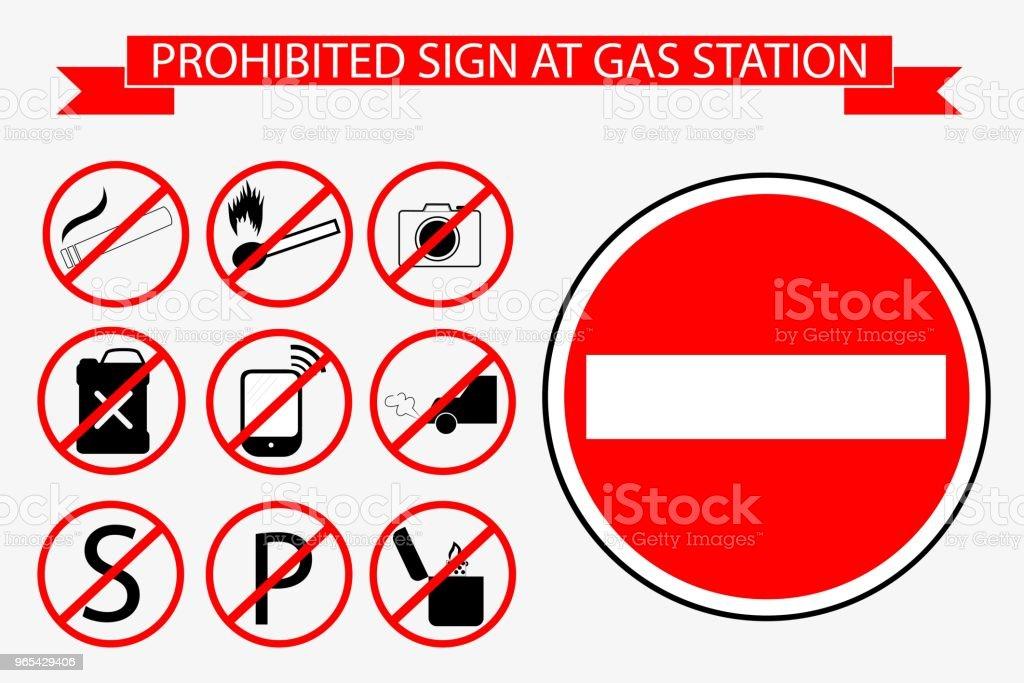 Sign at Gas Station sign at gas station - stockowe grafiki wektorowe i więcej obrazów beczka - zbiornik royalty-free