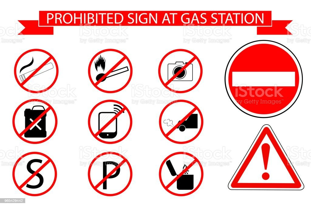 Sign at Gas Station royalty-free sign at gas station stock vector art & more images of alertness