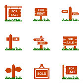 Sign board icons  , vector illustration
