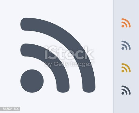 istock RSS Sign - Carbon Icons 848021500