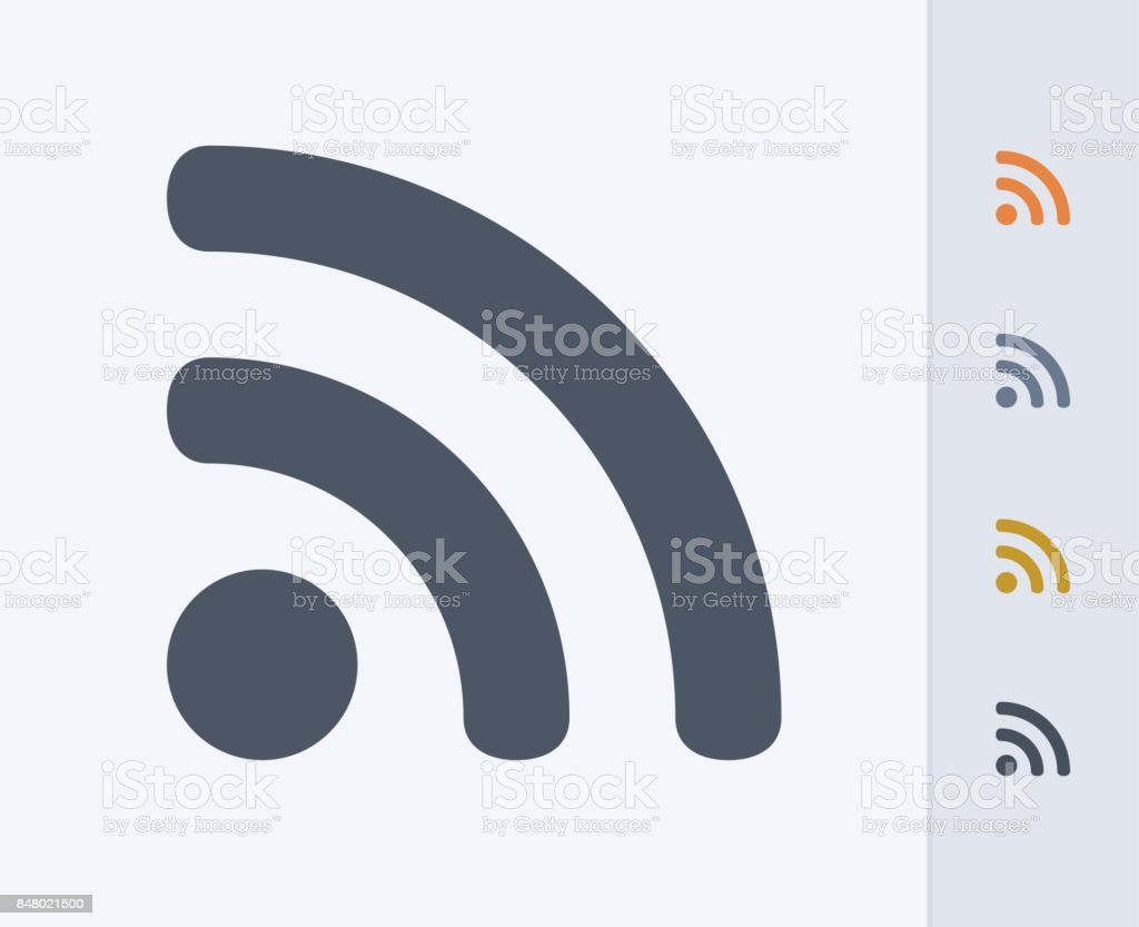 RSS Sign - Carbon Icons vector art illustration