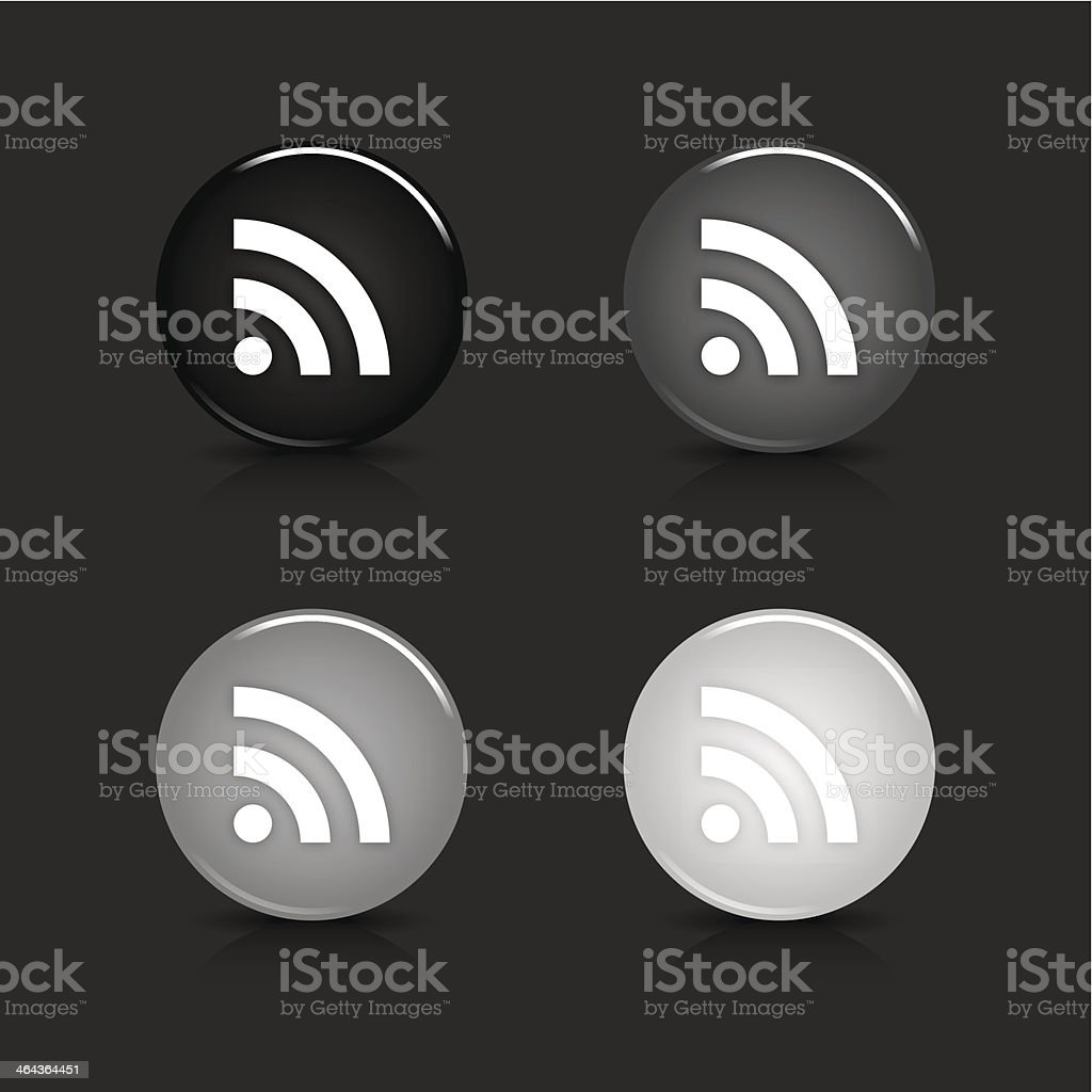 RSS sign circle icon gray black web internet button royalty-free rss sign circle icon gray black web internet button stock vector art & more images of application form