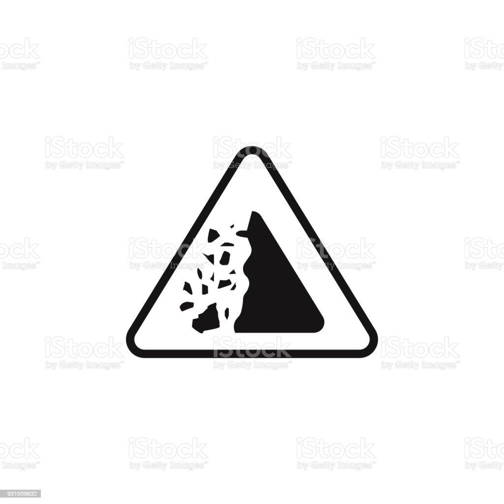 Sign Dangerous Crashing Stones Icon Element Of Danger Signs