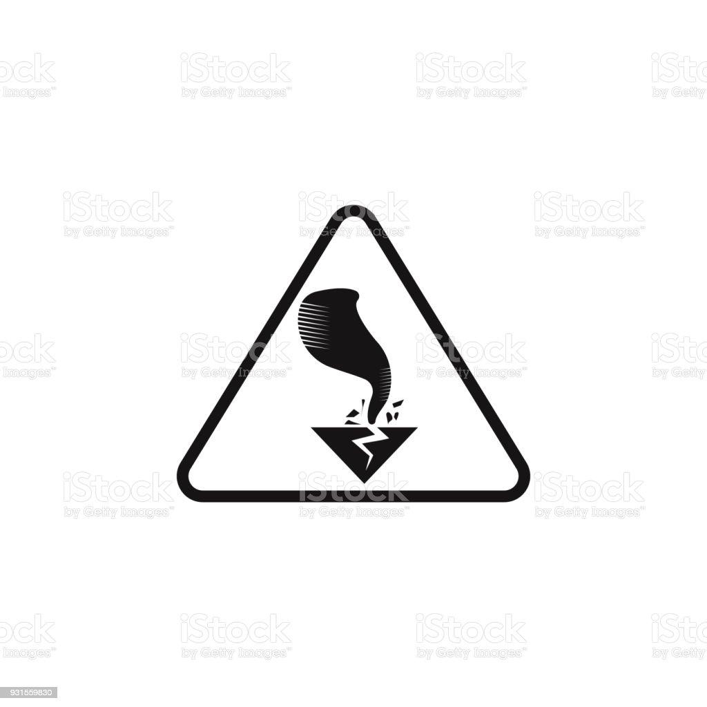 Sign Dangerous Hurricane Icon Element Of Danger Signs Icon Premium