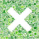 X Sign Environmental Conservation and Nature interface icon Pattern