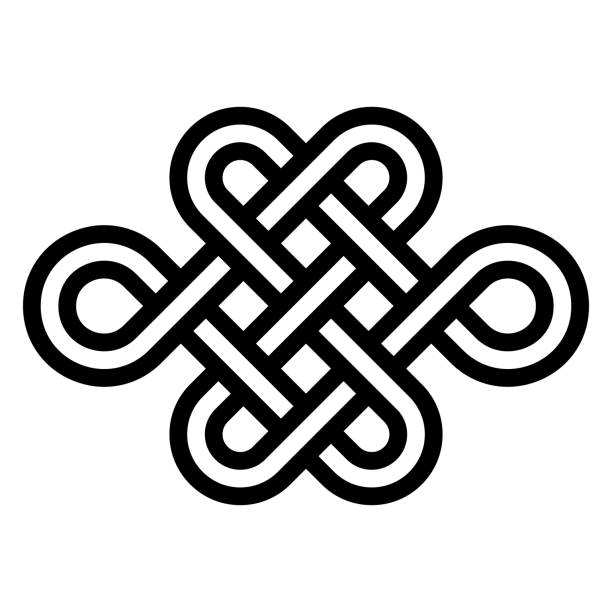 Sign eternal youth, beauty and health, vector node of longevity without end and beginning. Symbol of the energy balance needed for a healthy and happy life Sign of eternal youth, beauty and health, vector node of longevity without end and beginning. Symbol of the energy balance needed for a healthy and happy life knotted wood stock illustrations