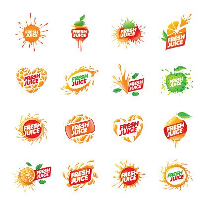 sign for fresh juice. Vector illustration on white background.