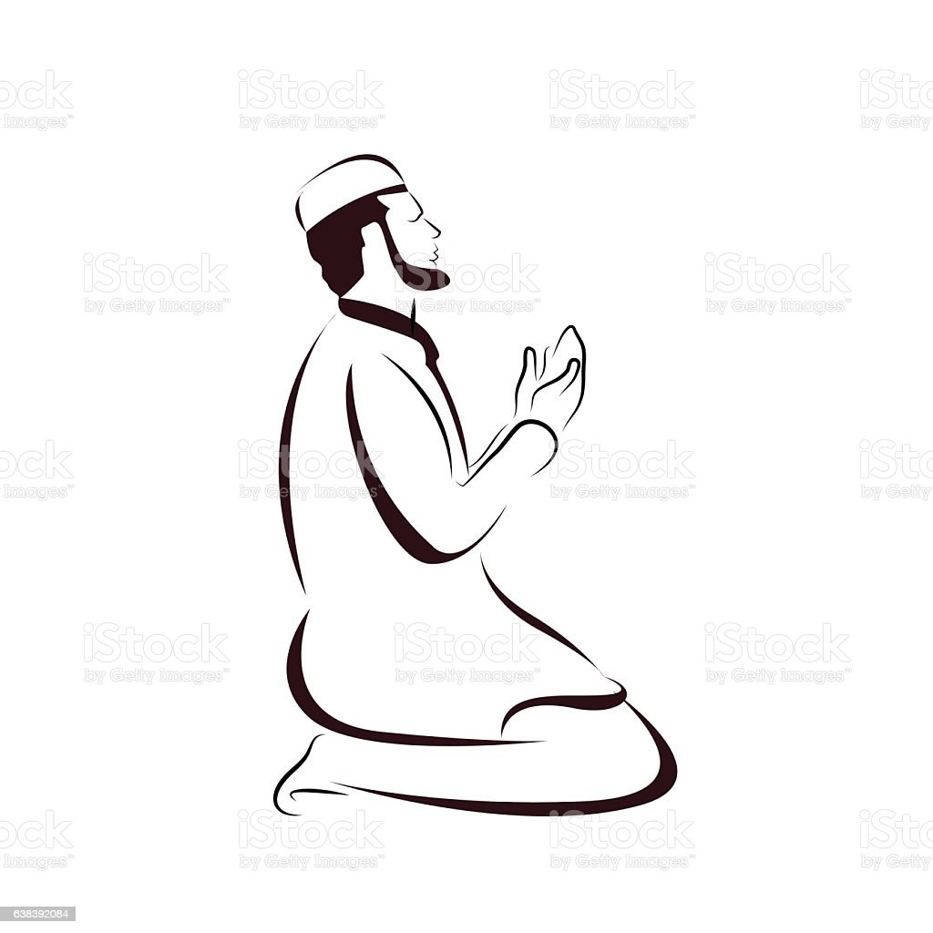 Sign For Muslim Prayer Stock Vector Art & More Images of ...