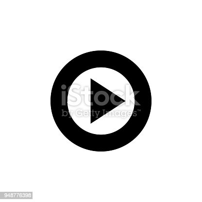 istock sign for play in a circle icon. Element of minimalistic icon for mobile concept and web apps. Signs and symbols collection icon for websites, web design, mobile app 948776398