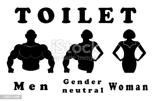 istock A sign for the toilet, both male and female as Gender 1293124487