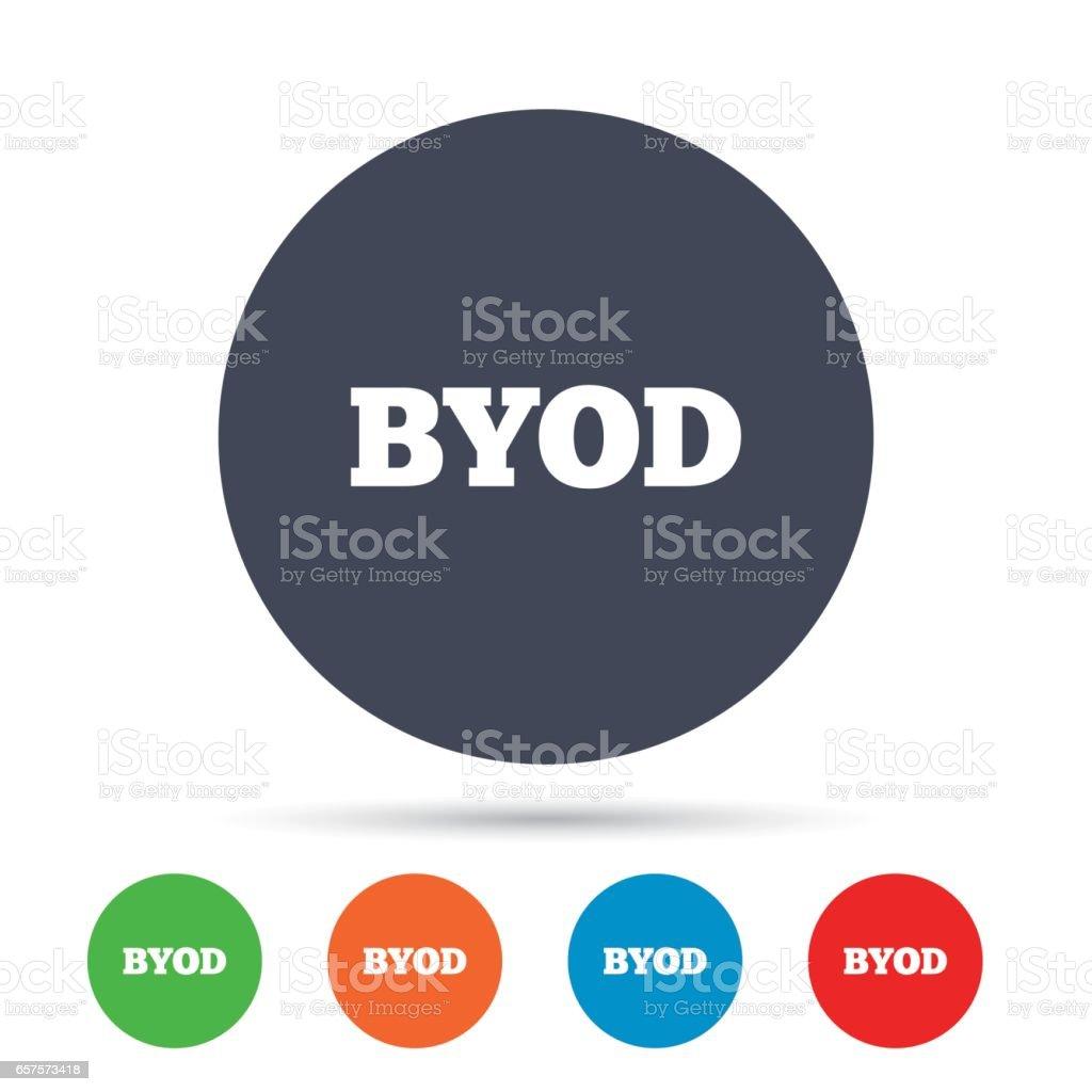 BYOD sign icon. Bring your own device symbol. - arte vettoriale royalty-free di Applicazione mobile