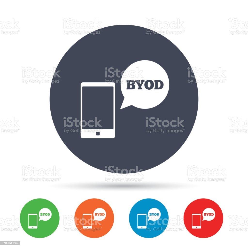 BYOD-Symbol. Bringen Sie Ihr eigenes Gerät-symbol. Lizenzfreies byodsymbol bringen sie ihr eigenes gerätsymbol stock vektor art und mehr bilder von abzeichen