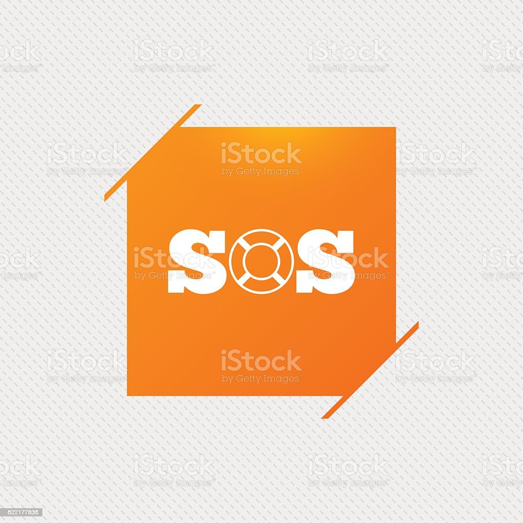 d134e429e334 Sos Sign Icon Lifebuoy Symbol Stock Illustration - Download Image ...