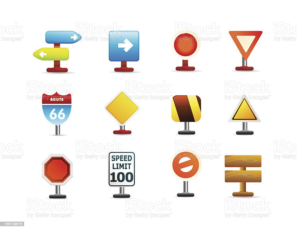 Sign icons royalty-free stock vector art