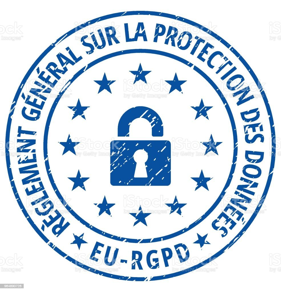 EU-RGPD sign illustration royalty-free eurgpd sign illustration stock illustration - download image now