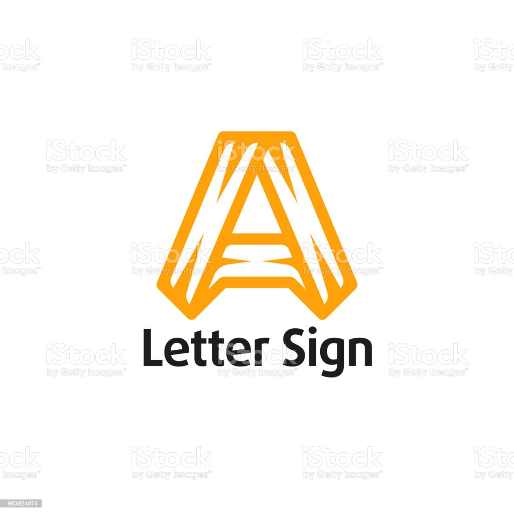 Sign in the form of a letter A - Royalty-free Abstract stock vector