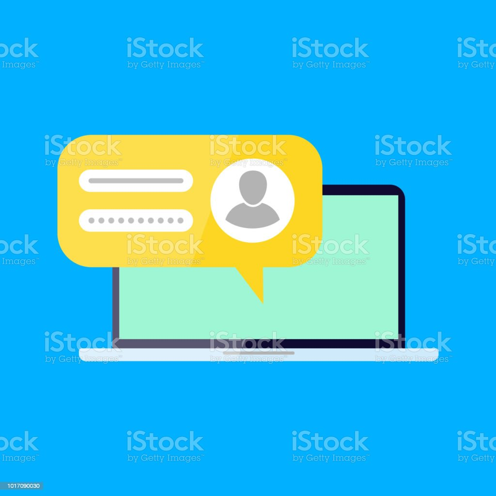 Sign in to your account. - Royalty-free Business stock vector