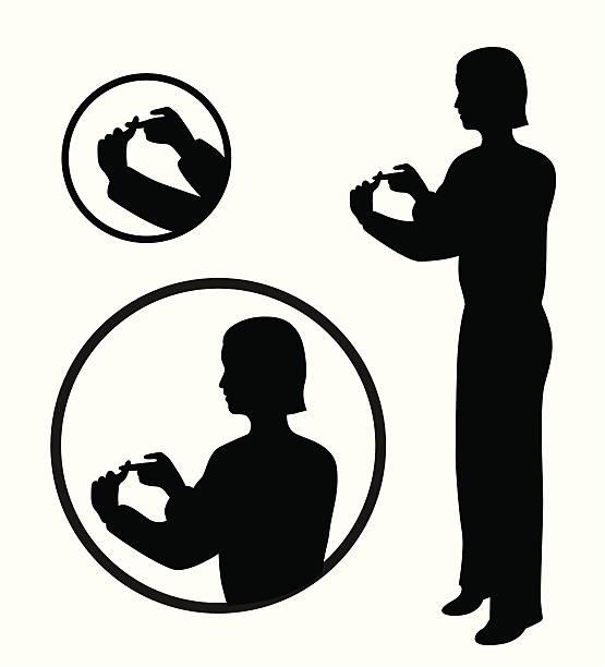 stockillustraties, clipart, cartoons en iconen met sign language vector silhouette - gebaren