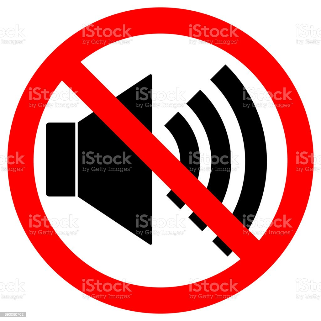 No sound sign loudspeaker icon in crossed out red circle keep no sound sign loudspeaker icon in crossed out red circle keep silence symbol biocorpaavc Image collections