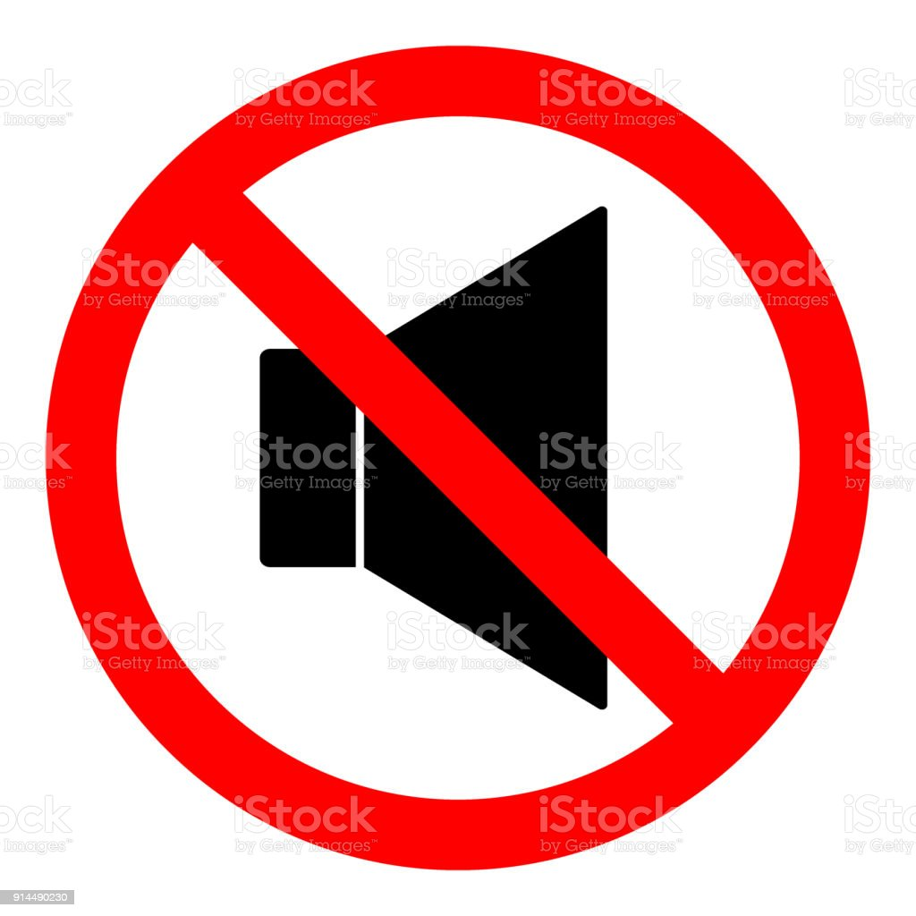 No sound sign loudspeaker icon in crossed out red circle keep no sound sign loudspeaker icon in crossed out red circle keep silence symbol buycottarizona Choice Image