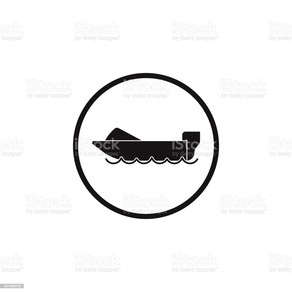 Sign Motor Boats Icon Element Of Danger Signs Icon Premium Quality