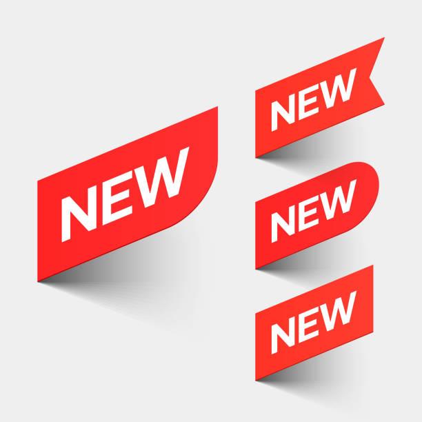 팻말 새로운 - 새로운 stock illustrations