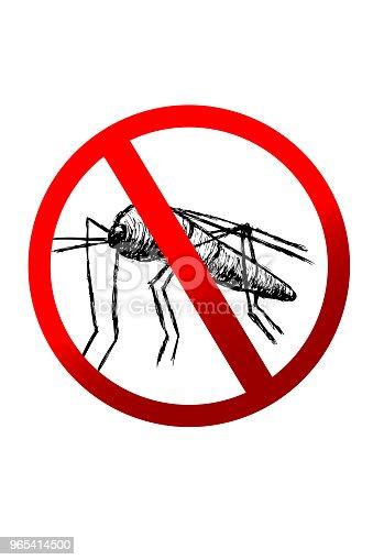 Sign No Mosquito - Stockowe grafiki wektorowe i więcej obrazów Bezkręgowce 965414500