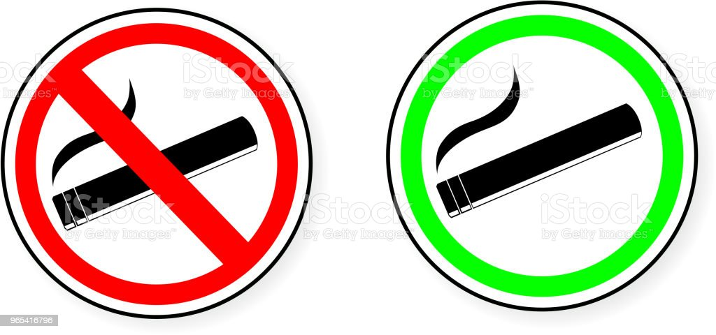 sign - No Smoking and Smoking Area royalty-free sign no smoking and smoking area stock illustration - download image now